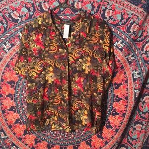 patterned button up